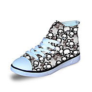 baratos Sapatos de Menino-Para Meninos Sapatos Lona Primavera / Outono Conforto Tênis Preto / Cinzento / Azul