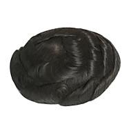 erkek saçlı şeffaf dantel tabanlı düşük yoğunluklu erkekler toupee 6inch * 8inch insan saç toupee
