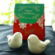 2pcs Love Birds Salt and Pepper Shakers in Xmas Favor Bag Beter Gifts®Party Supplies