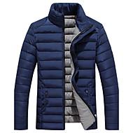 Pánské Standardní S vycpávkou Čínské vzory Velké velikosti Jednobarevné-Kabát Bavlna Bavlna Dlouhý rukáv