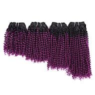 Ukočeni Curl Kose za Toyokalon Ombre pletenice sintetički 4pcs / paket Kovrčave pletenice Pletenice