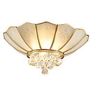 billige Taklamper-krystall absorpsjon kuppel lys alle kobber lampe er moderne og kontraktert stue stue spisestue lampe soverom lys atmosfære kobber lys