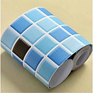 格子柄 ホームのための壁紙 現代風 ウォールカバーリング , PVC /ビニール 材料 自粘型 壁紙 , ルームWallcovering