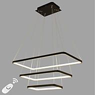 dimmable led vedheng lys moderne / comtemporary svart hvit funksjon aluminium stue spisestue kontor rom med fjernkontroll