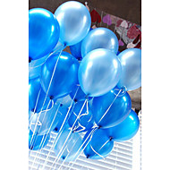 20 kpl / setti ilmapallot lateksi 10 tuuman yksivärinen puhallettava pyöreä ilmapallo