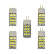 billige Bi-pin lamper med LED-5 stk 4W E14 LED-lamper med G-sokkel T 51 leds SMD 2835 Varm hvit Hvit 320lm 3000-3500/6000-6500K AC 220-240V