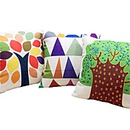 3つ 個 リネン コットン/リネン 枕カバー ベッド用枕 抱き枕 旅行用枕 ソファのクッション,リーフ柄 マルチカラー グラフィック 自然風 田園風 カジュアル 装飾 座布団 ギフト