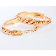 Dámské Visací náušnice Náušnice - Kruhy Šperky Přizpůsobeno Slitina Kulatý Šperky Svatební Párty Denní Kostýmní šperky