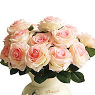 1 1 Tak Polyester / Kunststof Rozen Bloemen voor op tafel Kunstbloemen 17.7inch/45cm