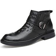 Miehet kengät Nappanahka Syksy Talvi Muotisaappaat Nilkkuri Maiharit Bootsit Nilkkurit Solmittavat Käyttötarkoitus Kausaliteetti Musta