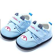 赤ちゃん 靴 コットン 春 秋 赤ちゃん用靴 フラット 用途 カジュアル オレンジ ライトイエロー ライトブルー