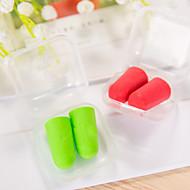5 pares viajam tampões de ouvido macios pacote de caixa de plástico de cor aleatória