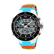 남성용 여성용 회중 시계 스마트 시계 패션 시계 손목 시계 독특한 창조적 인 시계 디지털 시계 스포츠 시계 밀리터리 시계 드레스 시계 중국어 디지털 알람 달력 크로노그래프 방수 야광 충격 방지 별이 빛나는 큰 다이얼 LCD 실리콘 밴드 참 사치