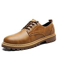 hesapli 30%OFF-Erkek Ayakkabı Yapay Deri Kış Sonbahar Rahat Oxford Modeli Bootiler/ Bilek Botları Günlük Parti ve Gece için Bağcıklı Gri Sarı Kahverengi