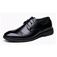 男性用 靴 レザー 秋 コンフォートシューズ オックスフォードシューズ ブラック
