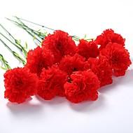 billige Kunstige blomster-5 Gren Polyester Peoner Bordblomst Kunstige blomster