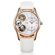 Dámské Módní hodinky Automatické natahování Pravá kůže Kapela Černá Bílá Červená Růžová