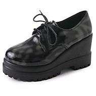 Kadın Ayakkabı PU Sonbahar Kış Rahat Oxford Modeli Uyumluluk Günlük Siyah Şarap Koyu Yeşil