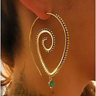 Žene Okrugle naušnice - Statement Zlato Pink Circle Shape Naušnice Za Dnevno