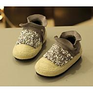女の子 靴 スパンコール 秋 冬 コンフォートシューズ 赤ちゃん用靴 スニーカー 用途 カジュアル ブラック グレー Brown