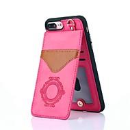 billiga Mobil cases & Skärmskydd-fodral Till Apple iPhone X / iPhone 8 Korthållare / med stativ / Mönster Skal spetsar Utskrift Hårt Äkta Läder för iPhone X / iPhone 8 Plus / iPhone 8