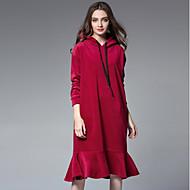 Χαμηλού Κόστους JIANRUYI®-Γυναικεία Χαριτωμένο Τρομπέτα/Γοργόνα Φόρεμα - Μονόχρωμο Μίντι