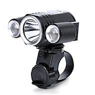 Front Bike Light LED XM-L2 T6 Cycling Professional Waterproof Lithium Battery Lumens White Camping/Hiking/Caving Everyday Use