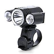 Frontlys til sykkel LED XM-L2 T6 Sykling Profesjonell Vanntett Lithium Batteri Lumens Hvit Camping/Vandring/Grotte Udforskning Dagligdags