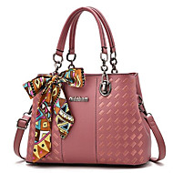 Women Bags All Seasons PU Tote Zipper for Casual Blushing Pink Gray Purple Dark Green Khaki