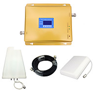 lcd display mobiltelefon 800mhz 850mhz 1800mhz signal booster cdma dcs signal repeater forsterker med panel antenne / log periodisk