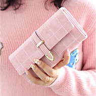 Women Bags PU Wallet Buttons for Outdoor All Seasons Blue Blushing Pink Fuchsia