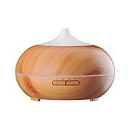 aromaterapi essentiel olie diffusor trækorn ultralyd kølig tåge hviske-rolige luftfugter med farve led lys skiftende&4 timer