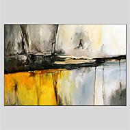 hesapli Yeni Gelenler-El-Boyalı Soyut Yatay Panoramik, Soyut Tuval Hang-Boyalı Yağlıboya Resim Ev dekorasyonu Tek Panelli