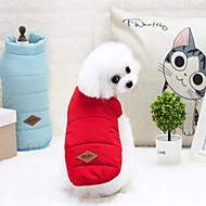 Χαμηλού Κόστους Προμήθειες για κατοικίδια-Γάτα Σκύλος Παλτά Veste Χειμωνιάτικη ένδυση Ρούχα για σκύλους Γράμμα & Αριθμός Κίτρινο Κόκκινο Μπλε Νάιλον Τερυλίνη Στολές Για κατοικίδια