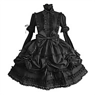 cheap Lolita Dresses-Gothic Lolita Dress Princess Punk Women's Dress Cosplay Black Puff/Balloon Long Sleeves Medium Length