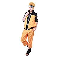 Inspirerad av Naruto Naruto Uzumaki Animé Cosplay-kostymer cosplay Suits Lappverk Långärmad Kappa / Byxor Till Herr / Dam