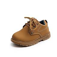 tanie Obuwie chłopięce-Dla chłopców Buty Derma Zima Jesień Comfort Buciki Szurowane na Casual Na wolnym powietrzu Black Yellow Brown