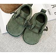赤ちゃん 靴 繊維 秋 冬 コンフォートシューズ フラット 用途 カジュアル グリーン ダークブラウン