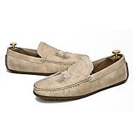 cheap Men's Slip-ons & Loafers-Men's Shoes Rubber Fall Moccasin Loafers & Slip-Ons Black / Beige / Brown