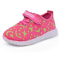 baratos Sapatos de Menina-Para Meninas Sapatos Tule Outono / Inverno Conforto Tênis para Preto / Pêssego / Azul
