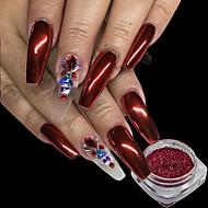 0.15g / szt. Boże Narodzenie czerwony paznokci brokat proszku lśniące efekt lustra paznokci sztuki