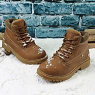 男の子 靴 レザーレット 秋 冬 スノーブーツ コンバットブーツ ブーツ ブーティー/アンクルブーツ 編み上げ 用途 ブラック イエロー Brown