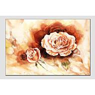 billiga Blom-/växtmålningar-Hang målad oljemålning HANDMÅLAD - Blommig / Botanisk Klassisk Duk