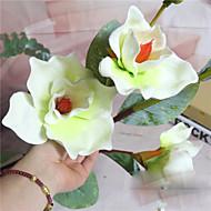1 Gren Polyester Orkideer Bordblomst Kunstige blomster
