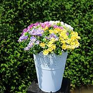 4 grener på 25cm6 forked krysantemum simulering plast blomster