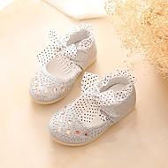 baratos Sapatos de Menina-Para Meninas Sapatos Courino Primavera Conforto / Sapatos para Daminhas de Honra Rasos Laço / Lantejoulas / Velcro para Dourado /