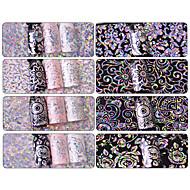 1 Neglekunst Klistermærke Glitter Mønster Tilbehør Glitrende Soignerings Art Deco/Retro Klistermærke 3D Blitz Gør-Det-Selv Udstyr Makeup