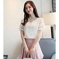 Dámské - Jednobarevné Košile Bavlna Do V