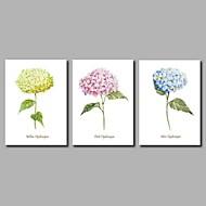 billige Nyheter-Hang malte oljemaleri Håndmalte - Blomstret / Botanisk Kunstnerisk Blomst Moderne / Nutidig Lerret
