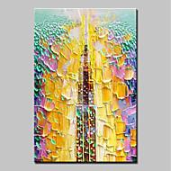 Handgeschilderde Abstract Verticaal,Abstract Modern 1pc Canvas Hang-geschilderd olieverfschilderij For Huisdecoratie